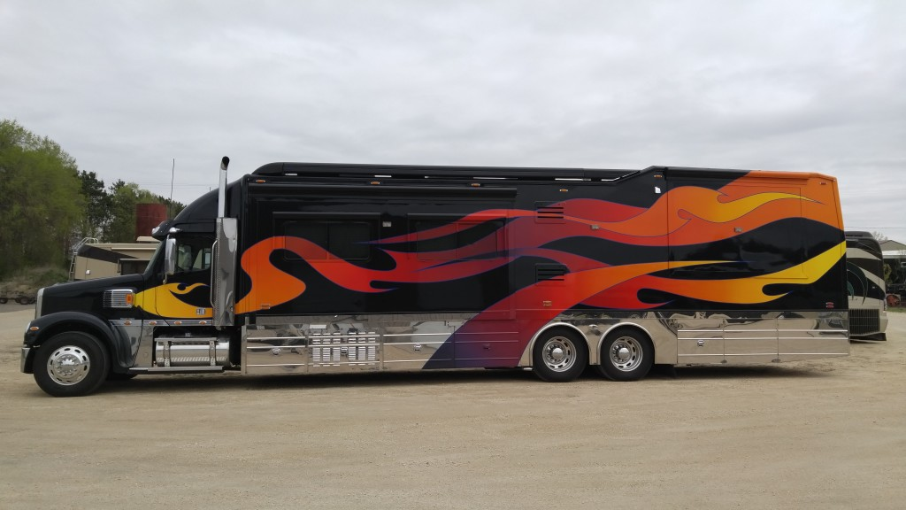 Custom painted motorcoaches