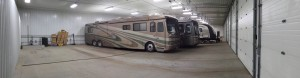 Indoor heated RV storage